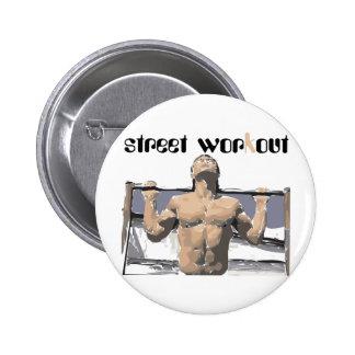 Séance d entraînement et forme physique de rue pou badge avec épingle