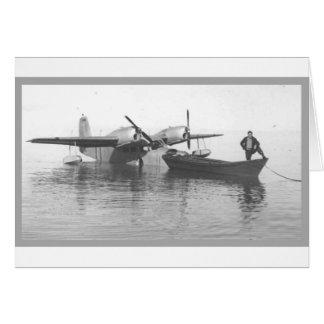 seaplane and boat card