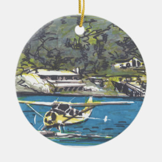 Seaplane to San Juan Is. Ceramic Ornament
