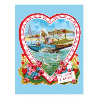 Seaplane Valentine Postcard