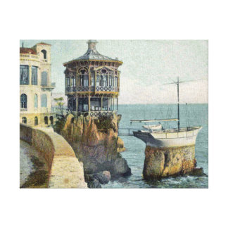 Seaport in Nice France Gallery Wrapped Canvas