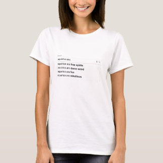 Search bar: AQUARIUS ARE... T-Shirt