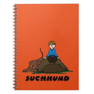 Search dog spiral notebook
