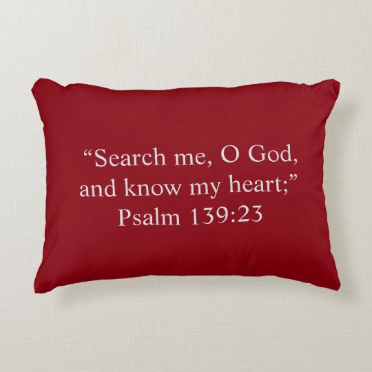 """Search Me"" Scripture Accent Pillow"