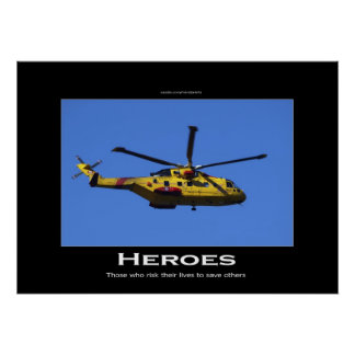 Search & Rescue Helicopter Motivational Poster