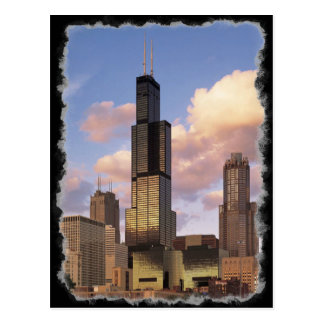 Sears Tower / Willis Tower Postcard - Rough Border