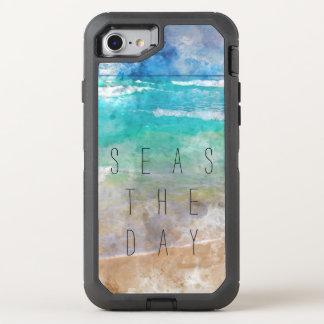 Seas the Day Beach Scene OtterBox Defender iPhone 7 Case