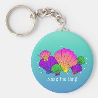 Seas the Day! Caribbean Seashells with Bubbles Keychain