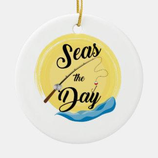 Seas The Day Ceramic Ornament