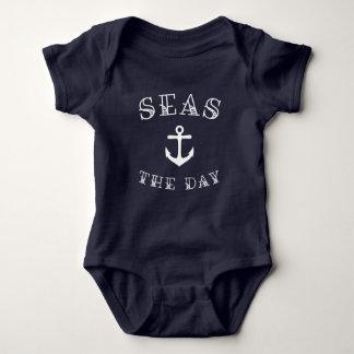 Seas the Day Nautical Baby Bodysuit