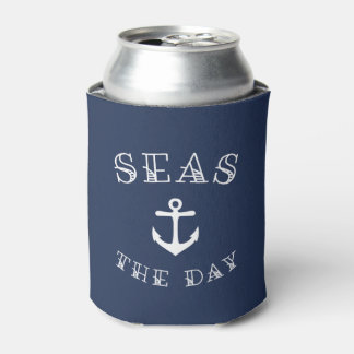Seas the Day | Personalized Beach House or Boat Can Cooler