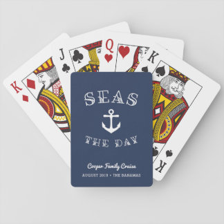 Seas the Day | Personalized Family Vacation Playing Cards
