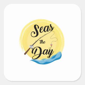 Seas The Day Square Sticker