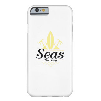 Seas The Day  Vintage Old School Surf Barely There iPhone 6 Case