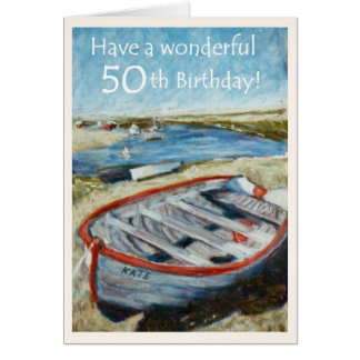 Seascape 50th Birthday Card