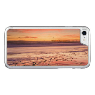 Seascape and pier at sunset, CA Carved iPhone 8/7 Case