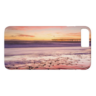 Seascape and pier at sunset, CA iPhone 7 Plus Case