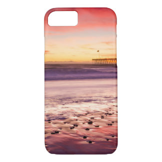 Seascape and pier at sunset, CA iPhone 8/7 Case
