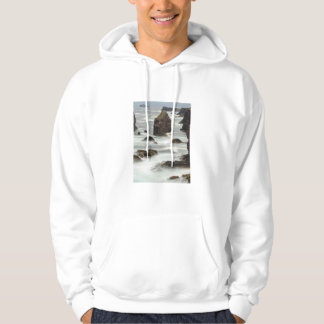 Seascape and sea stacks, Shetland Hoodie