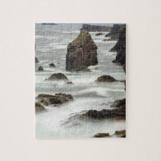 Seascape and sea stacks, Shetland Jigsaw Puzzle