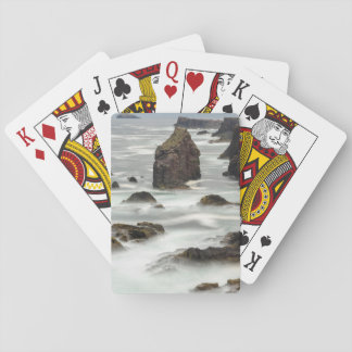Seascape and sea stacks, Shetland Playing Cards