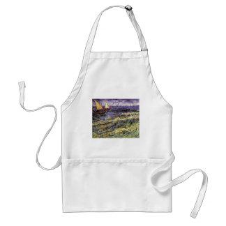 Seascape at Saintes-Maries by Vincent van Gogh Adult Apron