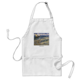 Seascape at Saintes-Maries by Vincent van Gogh Standard Apron