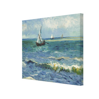 Seascape at Saintes-Maries by Vincent van Gogh Canvas Print