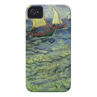 Seascape at Saintes Maries by Vincent van Gogh iPhone 4 Covers