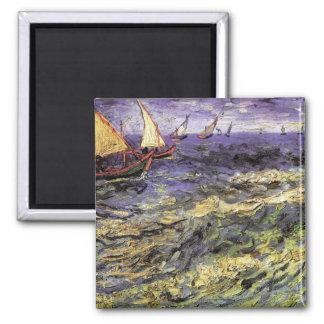 Seascape at Saintes-Maries by Vincent van Gogh Magnet