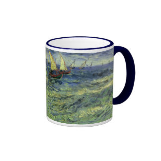 Seascape at Saintes Maries by Vincent van Gogh Coffee Mugs