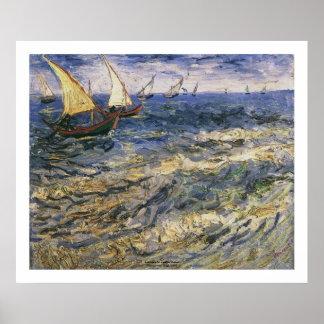 Seascape at Saintes Maries by Vincent van Gogh Posters