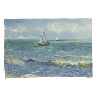 Seascape at Saintes-Maries de la Mer by van Gogh Pillowcase