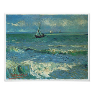 Seascape at Saintes-Maries-de-la-Mer, Van Gogh Poster