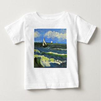 Seascape at Saintes-Maries, Van Gogh Baby T-Shirt