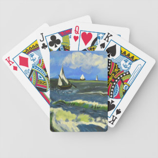 Seascape at Saintes-Maries, Van Gogh Bicycle Playing Cards
