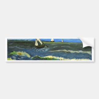 Seascape at Saintes-Maries, Van Gogh Bumper Sticker