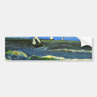 Seascape at Saintes-Maries, Van Gogh Bumper Sticker