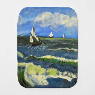 Seascape at Saintes-Maries, Van Gogh Burp Cloth