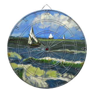 Seascape at Saintes-Maries, Van Gogh Dartboards