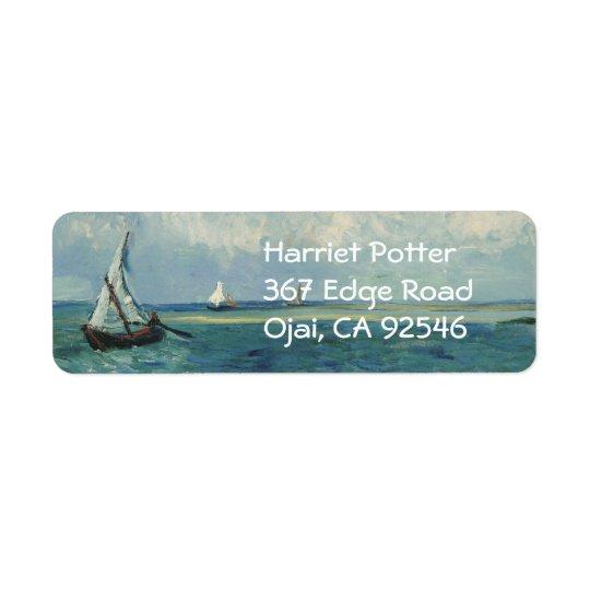 Seascape at Saintes-Maries Van Gogh Fine Art Return Address Label