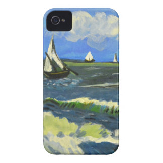 Seascape at Saintes-Maries, Van Gogh iPhone 4 Cases