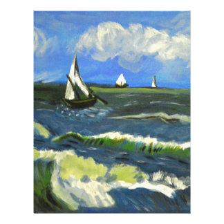 Seascape at Saintes-Maries, Van Gogh Letterhead