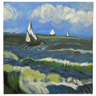 Seascape at Saintes-Maries, Van Gogh Napkin