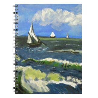 Seascape at Saintes-Maries, Van Gogh Notebook