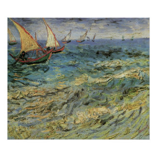 Seascape at Saintes-Maries - Van Gogh Poster