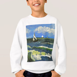 Seascape at Saintes-Maries, Van Gogh Sweatshirt