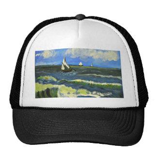 Seascape at Saintes-Maries, Van Gogh Trucker Hat