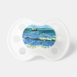 Seascape at Saintes-Maries, Vincent Van Gogh Baby Pacifier