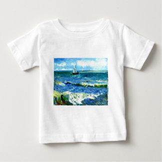 Seascape at Saintes-Maries, Vincent Van Gogh Baby T-Shirt